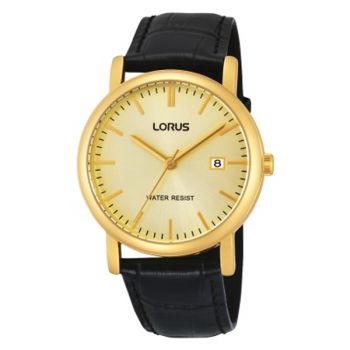 Lorus Gents Gold Plated Dress Watch    RG838CX9-LNP