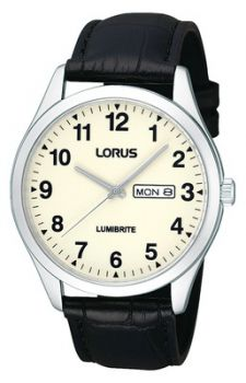 Lorus Gents Lumibrite  Leather Strap Watch   RJ647AX9-LNP