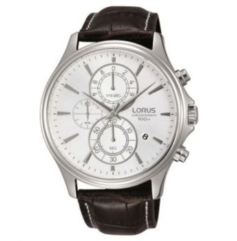 Lorus Gents Chronograph Leather Strap Watch  RM315DX9 NEW