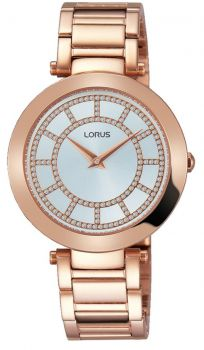 Lorus Ladies Rose Gold Plated Bracelet Watch - RRW02FX9 LNP