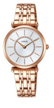Lorus Ladies Rose Gold Plated Bracelet Watch RRW96EX9-LNP