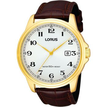 Lorus Gents Leather Strap Watch  LNP RS982AX9