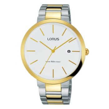 Lorus Gents Two Tone Watch   RS990CX9-LNP