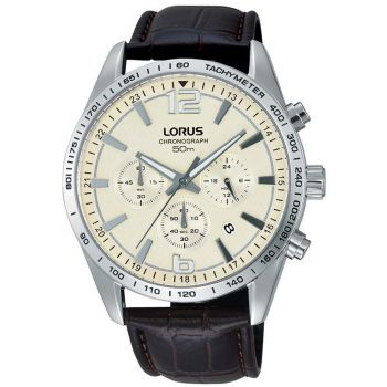 Lorus Gents Chronograph Leather Strap Watch       RT355FX9-LNP
