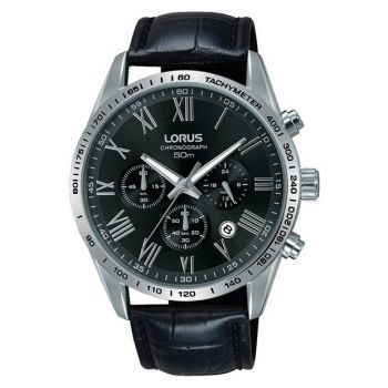 Lorus Gents Chronograph Leather Strap Watch   RT385FX9-LNP