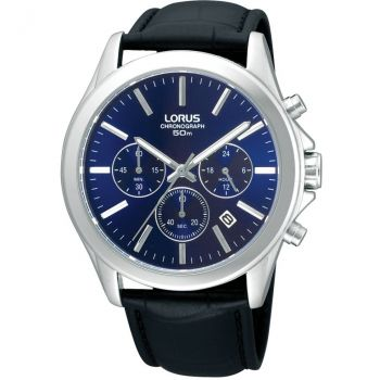 Lorus Gents Chronograph Leather Strap Watch - RT389AX9-NEW