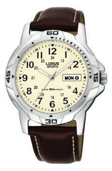 Lorus Gents Leather Strap Sports Watch - RXN49BX9 NEW