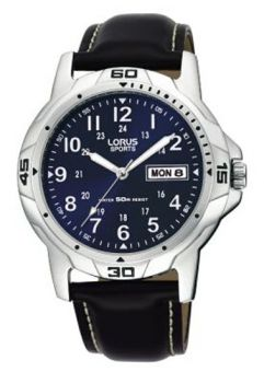 Lorus Gents Leather Strap Watch    RXN51BX9-NEW