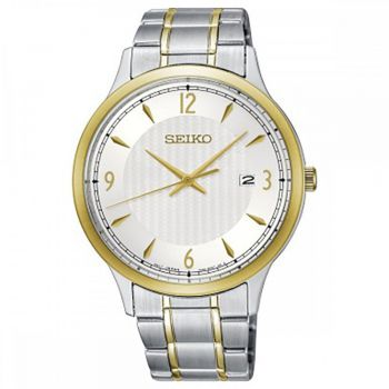 Seiko Gents Classic Two Tone Bracelet Watch SGEH82P1 NEW