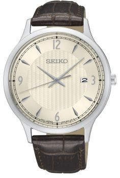 Seiko Gents Stainless Steel Dress Watch - SGEH83P1 NEW
