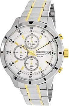 Seiko Gents Chronograph Two Tone Watch - SKS563P1-NEW