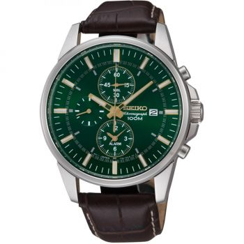 Seiko Gents Alarm Chronograph Watch SNAF09P1-NEW