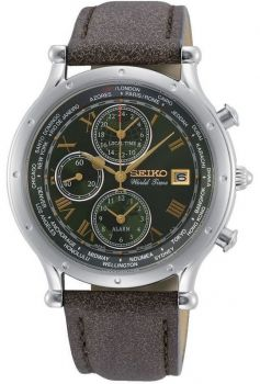 Seiko Gents Conceptual World Time Watch SPL057P1 NEW