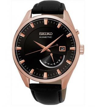 Seiko Gents Kinetic Calendar Watch SRN078P1 NEW