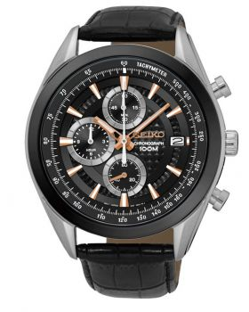 Seiko Gents Chronograph Watch - SSB183P1-NEW