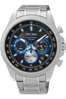 Seiko Gents Chronograph Date Display Watch - SSB243P1 NEW