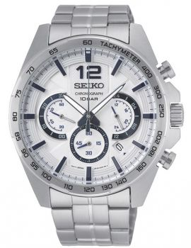 Seiko Gents Chronograph Date Display Watch SSB343P1 NEW
