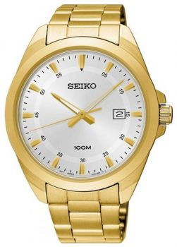 Seiko Gents Classic Gold Plated Watch - SUR212P1 NEW