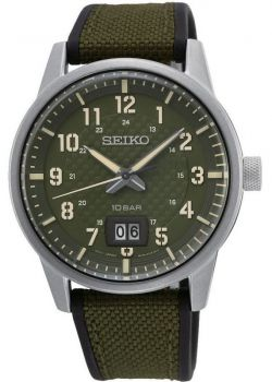 Seiko Gents Military Style Watch - SUR323P1 NEW