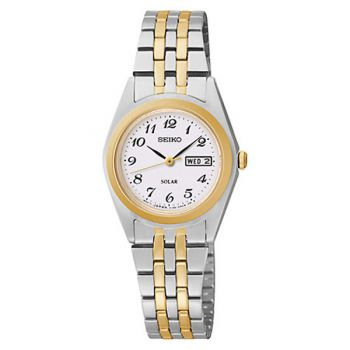 Seiko Ladies Solar Two Tone Watch - SUT116P9 NEW