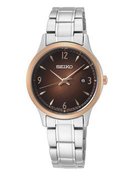 Seiko Ladies Stainless Steel Watch - SXDH02P1-NEW