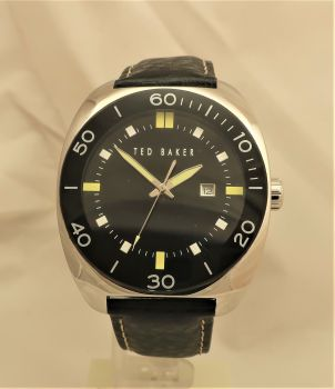 Ted Baker Mens Timemaster 300 Leather Strap Watch TE3043-OS-TBNP