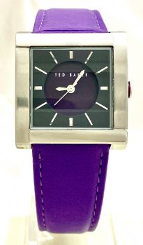 Ted Baker Ladies Sui-Ted Square 3-Hand Analog Leather Strap Watch  TE2001 OS TBNP