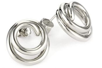 Breil Stainless Steel Knot Earrings - TJ-0987-NEW