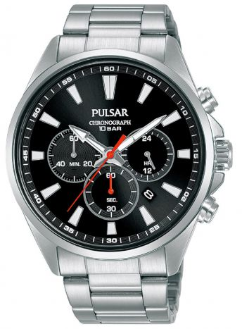 Pulsar Gents Chronograph Watch - PT3A39X1 NEW